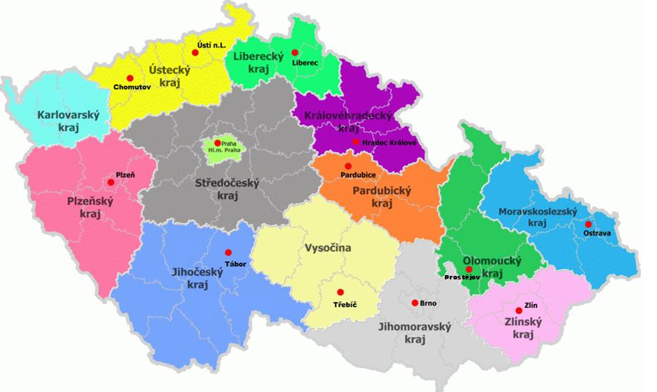 mapa EDC